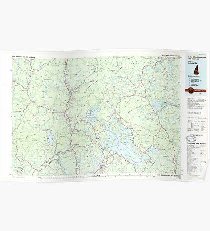USGS TOPO Map New Hampshire NH Lake Winnipesaukee 460055 1986 100000 Poster