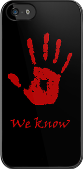 "Dark Brotherhood ""We Know"" (alt phone case) by backlash92"