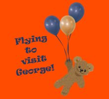 Flying bear going to visit new baby George Kids Tee