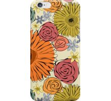 Colorful vintage abstract spring flowers iPhone Case/Skin