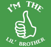 I'm The Lil Brother ( White) Kids Tee