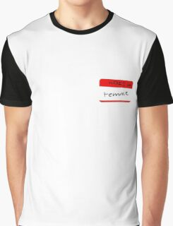 Temmie name tag Graphic T-Shirt