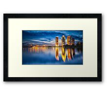 Gold & Blue Framed Print