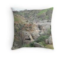 Two Waterfalls! Mannum Gorge, rural hinterland.  Throw Pillow