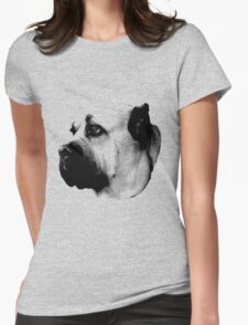 Mournful Dog Engraving Womens Fitted T-Shirt