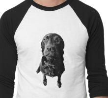 Regretful Dog Puppy Face Engraving Image Picture Men's Baseball ¾ T-Shirt