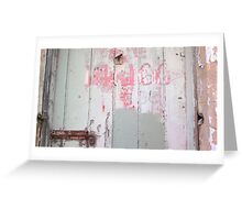 Fading labels Greeting Card