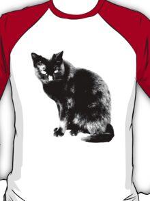 Black Cat. Halloween Black Cat.  T-Shirt