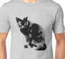 Black Cat. Halloween Black Cat.  Unisex T-Shirt