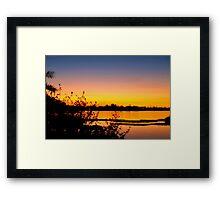 Blending into peacefulness Framed Print
