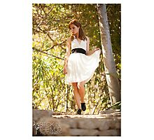 Ingrid's White Dress Photographic Print