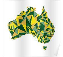 Abstract Australia Wattle Gold Poster