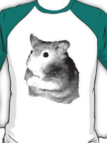 Golden Hamster Digital Image and Engraving T-Shirt