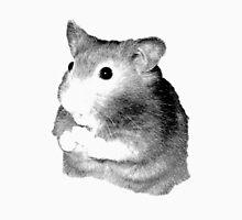 Golden Hamster Digital Image and Engraving Womens Fitted T-Shirt