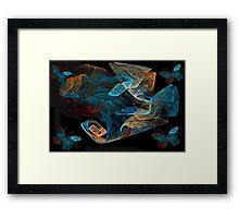 Ƹ̴Ӂ̴Ʒ BUTTERFLIES AND ABSTRACT PICTURE/CARD Ƹ̴Ӂ̴Ʒ Framed Print