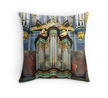 Pipe organ in Breda Cathedral Throw Pillow