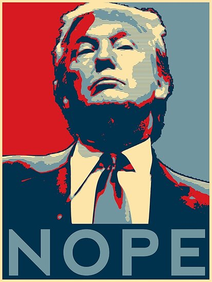 """Donald Trump ""NOPE"""" Posters by GalaxyTees"