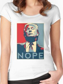 """Donald Trump """"NOPE"""" Women's Fitted Scoop T-Shirt"""