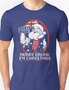 Merry Drunk I'm Australian Christmas- Santa Ugly christmas sweat T-Shirt