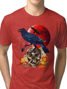 Raven and Red Moon Tri-blend T-Shirt
