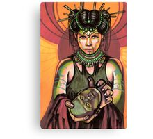 salome with severed head of john the baptist. Canvas Print
