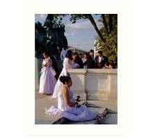 Wedding in Washington, DC Art Print