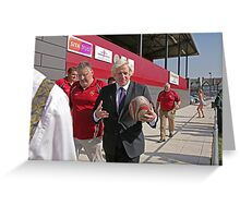 Boris Johnson officially opens streatham-croydon R.F.C. Greeting Card
