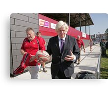 Boris Johnson officially opens streatham-croydon R.F.C Canvas Print