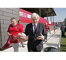 Boris Johnson officially opens streatham-croydon R.F.C Photographic Print