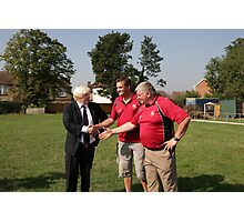 Boris Johnson officially opens streatham-croydon R.F.C. Photographic Print