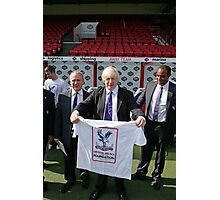 Boris Johnson visits Crystal Palace Football Club Foundation, Photographic Print