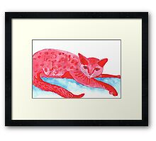 Red Spot Framed Print