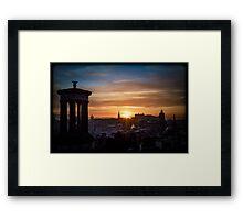 Edinburgh Sunset from Calton Hill Framed Print