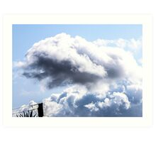 CLOUDS OVER THE PDC 1 Art Print