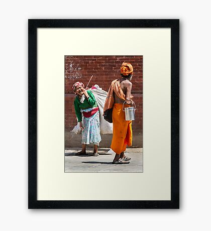 Happy times Framed Print