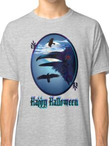 Ravens in Moon Shine-letters Classic T-Shirt