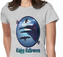 Ravens in Moon Shine-letters Womens Fitted T-Shirt