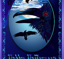 Ravens in Moon Shine Poster by Lotacats
