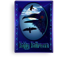 Ravens in Moon Shine Poster Canvas Print