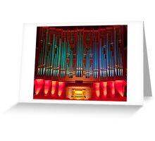 Christchurch Town Hall pipe organ Greeting Card