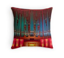 Christchurch Town Hall pipe organ Throw Pillow