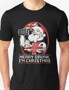 Merry Drunk I'm UK Christmas- Santa Ugly christmas sweat T-Shirt