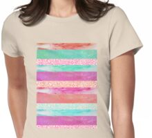 Tropical Stripes Womens Fitted T-Shirt