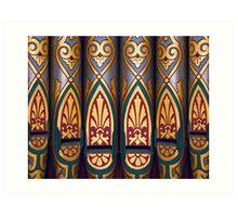 Painted organ pipes Art Print