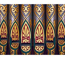 Painted organ pipes Photographic Print