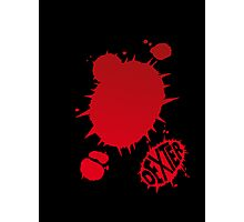 Dexter Blood Logo Photographic Print