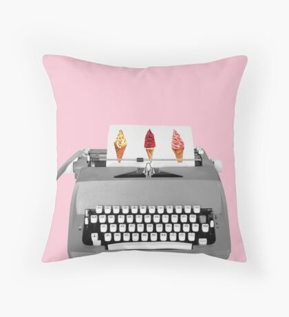 Type it ice cream every day Throw Pillow