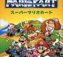 Super Mario Kart Nintendo Super Famicom Japanese Box Art Shirt (SNES) by augoosto