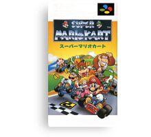 Super Mario Kart Nintendo Super Famicom Japanese Box Art Shirt (SNES) Canvas Print