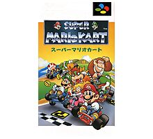 Super Mario Kart Nintendo Super Famicom Japanese Box Art Shirt (SNES) Photographic Print